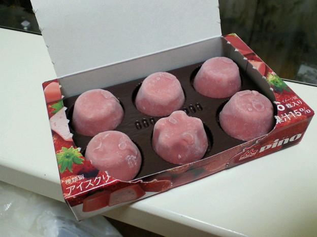 初星形ピノが!なんか桃の花...