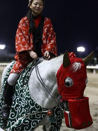 川崎競馬の誘導馬01月開催 獅子舞 赤半纏Ver-120107-10