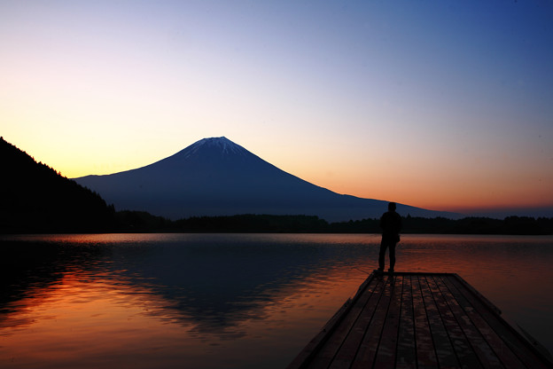 写真: 『田貫湖 朝焼け』