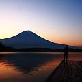 『田貫湖 朝焼け』