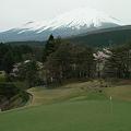 富士の麓で球遊び
