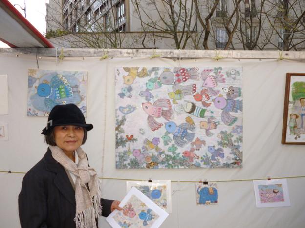 藤島 頴子 ( ふじしま えいこ ) 画家 パリ在住