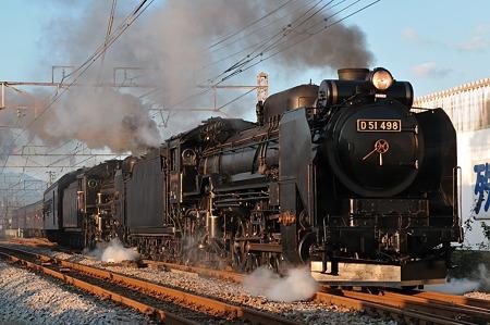 D51498+C58363重連+旧型客車