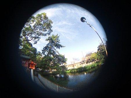 魚眼 池と空