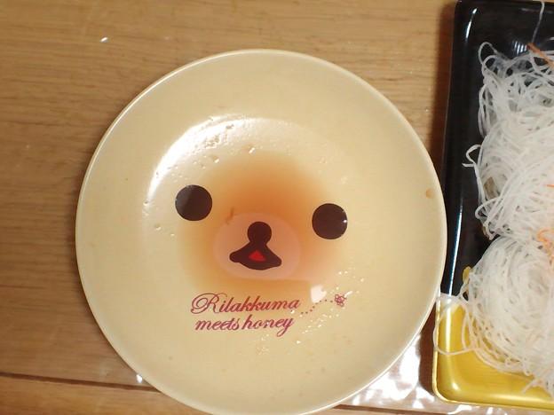 マグロ赤身を食べた後の皿