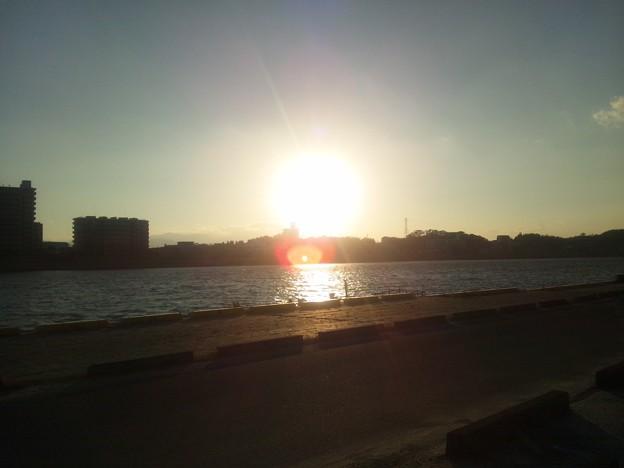夕日20120104inMiyazaki1