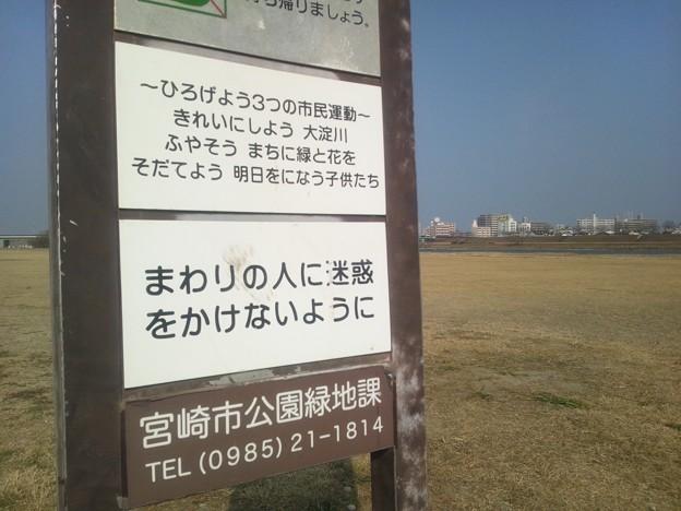 大淀川河川敷の公園6