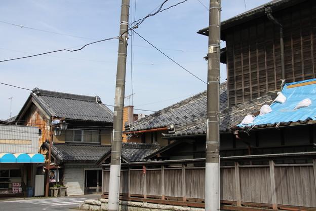 旧水戸街道 藤代宿の古い家並み