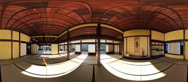 2012年2月19日 掛川城 360度パノラマ写真(4) 二の丸御殿 御書院上の間
