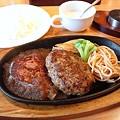 富山のステーキハンバーグセット