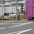 Photos: 踏切折損事故