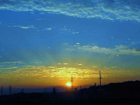 夕陽の光芒~~