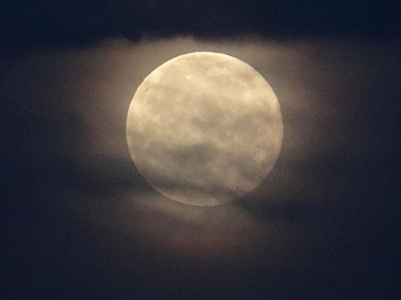 薄雲の満月