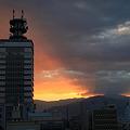 朝焼けの長野市