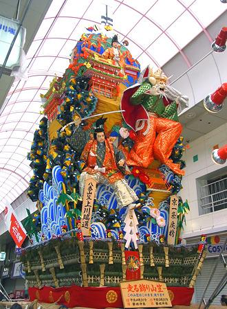博多祇園山笠 2011 走る飾り山 上川端通 京一条戻橋(きょういちじょうもどりばし)2