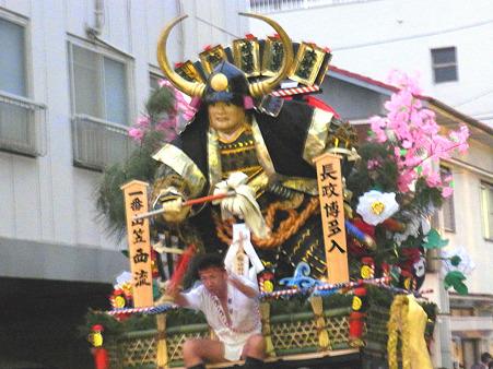 博多祇園山笠 2011 追い山 一番西流 舁き山 長政博多入(ながまさはかたいり)