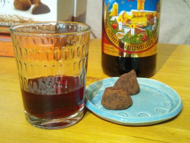ホットワインとチョコ、危険な組み合わせ…。自分でシナモンとか調整しなくていいから、一気に飲んでしまいそう~!