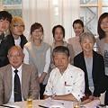 Photos: 纐纈(こうけつ)先生(前列右)