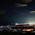 棚田からの夜景