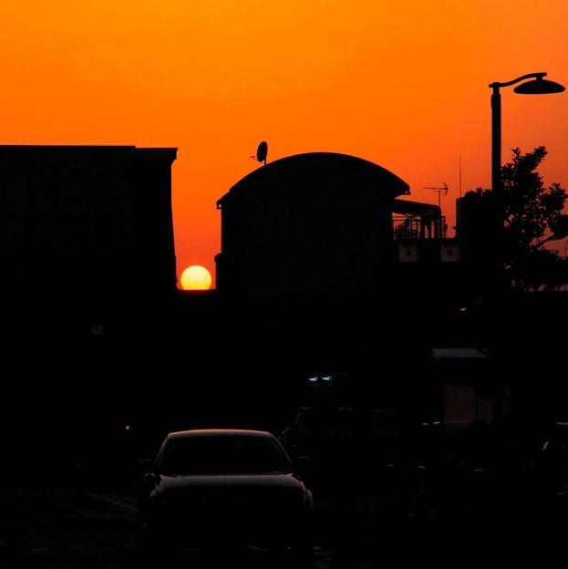 夕日も綺麗に ♪