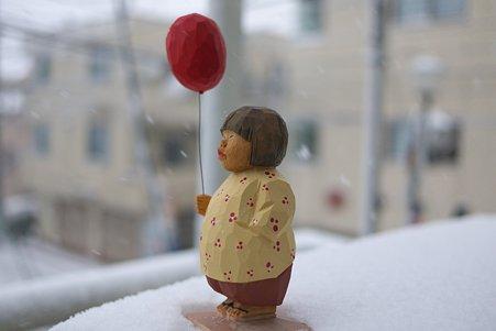 2012.02.29 ベランダ 雪の朝