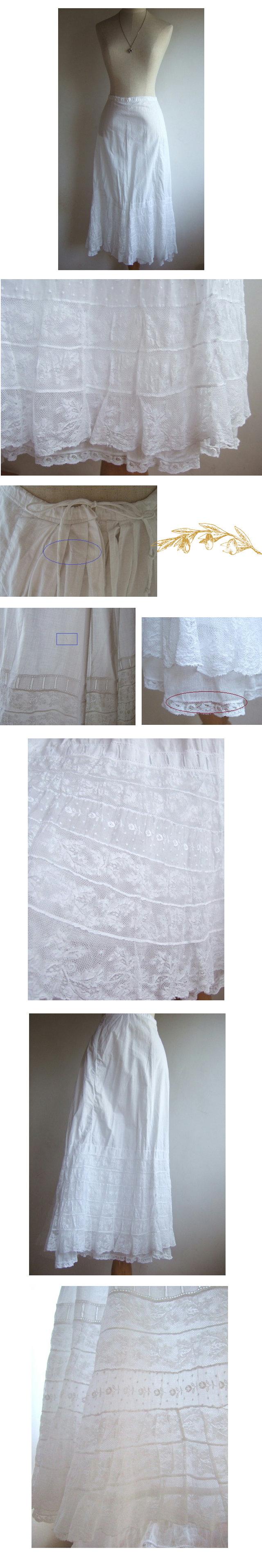 アンティークレース付ペチコートスカート
