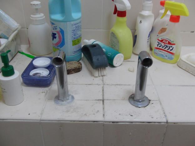シャワー付き混合栓の交換02