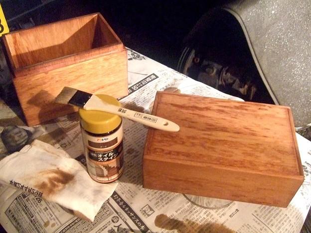 燗銅壺 収納BOX 塗装開始