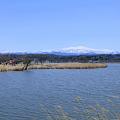 4月の青空と白山 木場潟