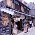 HDR 川越蔵造の町並みの路地裏の喫茶店・・20120624