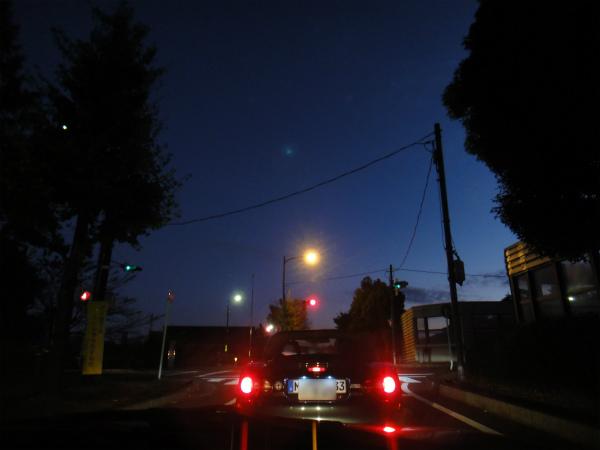 出発すると徐々に空が明るくなり始めました